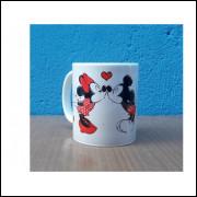 Caneca de Cerâmica Mickey e Minnie